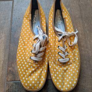 Yellow Polkadot Keds